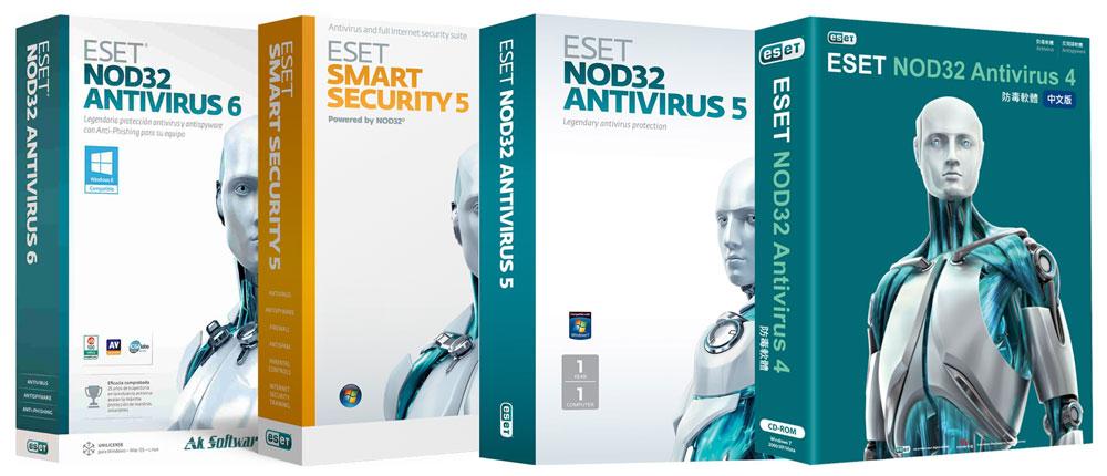 Eset nod32 antivirus / internet security / smart security premium.