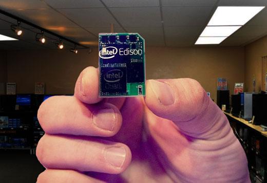 Двухъядерный миникомпьютер Intel Edison размером с SD-карту