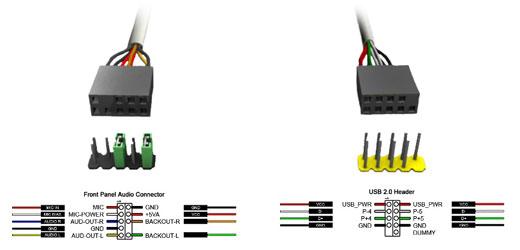 Подключение разъёмов USB