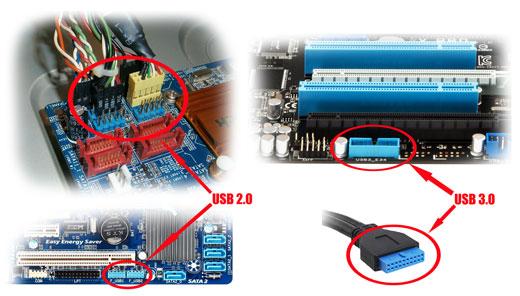 Подключение USB2.0 и USB3.0