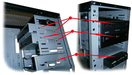 Установка DVD-привода и картридера