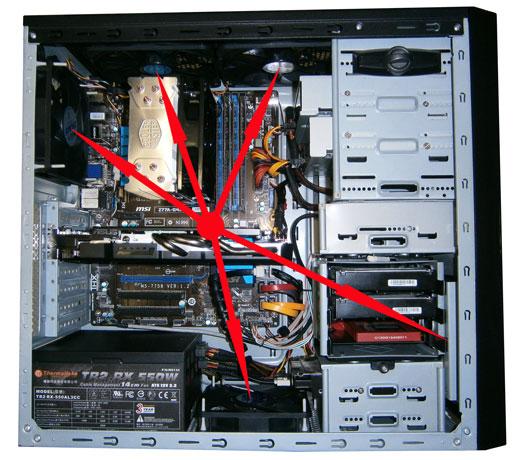 Установка вентиляторов в корпус компьютера